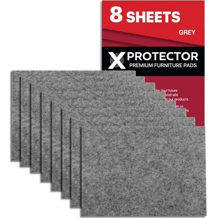patin feutre x protector patins meubles 8 pieces 20x16cm patins feutre de gris protection pour meubles dans votre maison