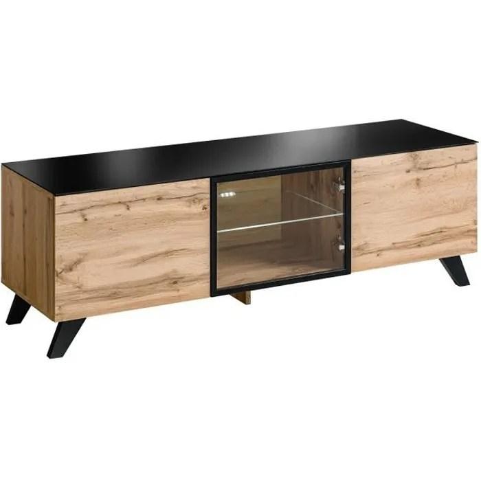 meuble tv metal et verre
