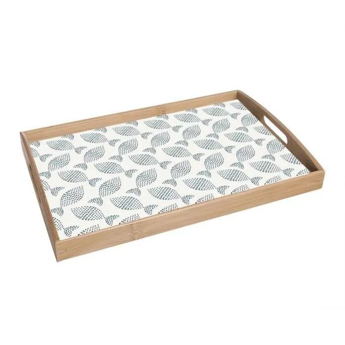 plateau de cuisine bois poisson mediterranee 43 cm couleur blanc 275334clm