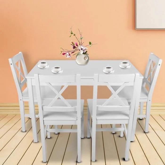 4 chaises ensemble cuisine salon maison