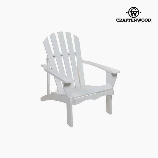 fauteuil d exterieur blanc en bois de peuplier f