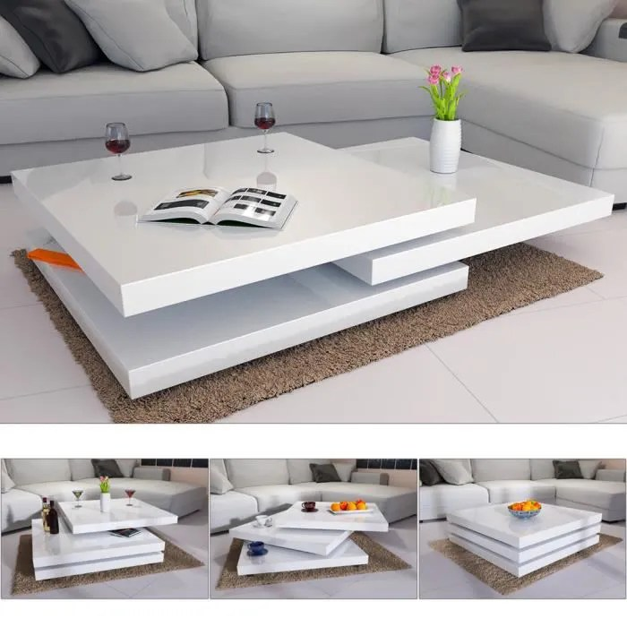 table basse laque led