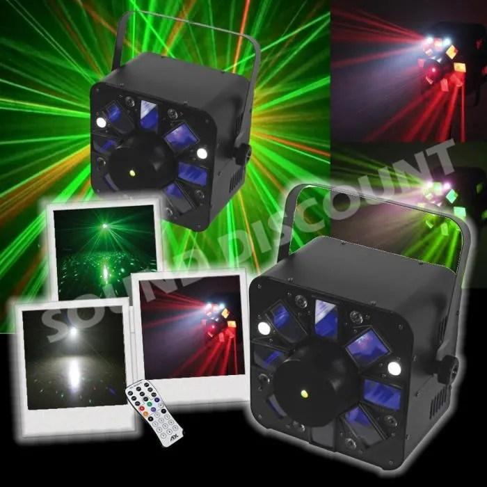 jeu de lumiere laser vert et rouge combo led rv