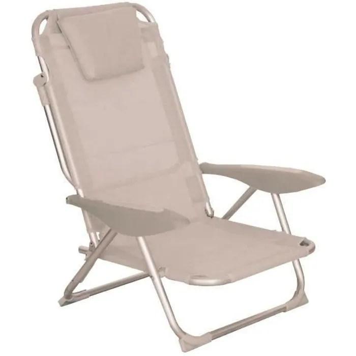 fauteuil clic clac des plages gris