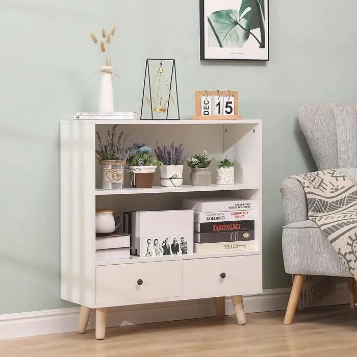 nuo bibliotheque blanc design scandinave meuble de