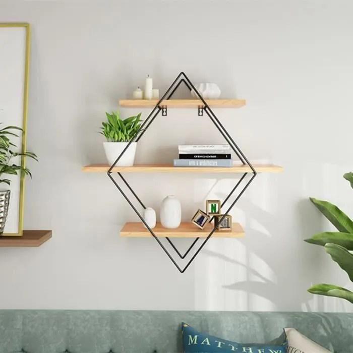 tempsa etagere murale en bois fer moderne etagere rangement pour maison