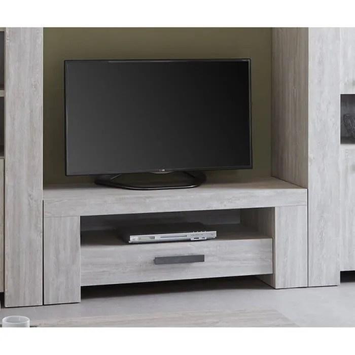chene blanchi meuble tv