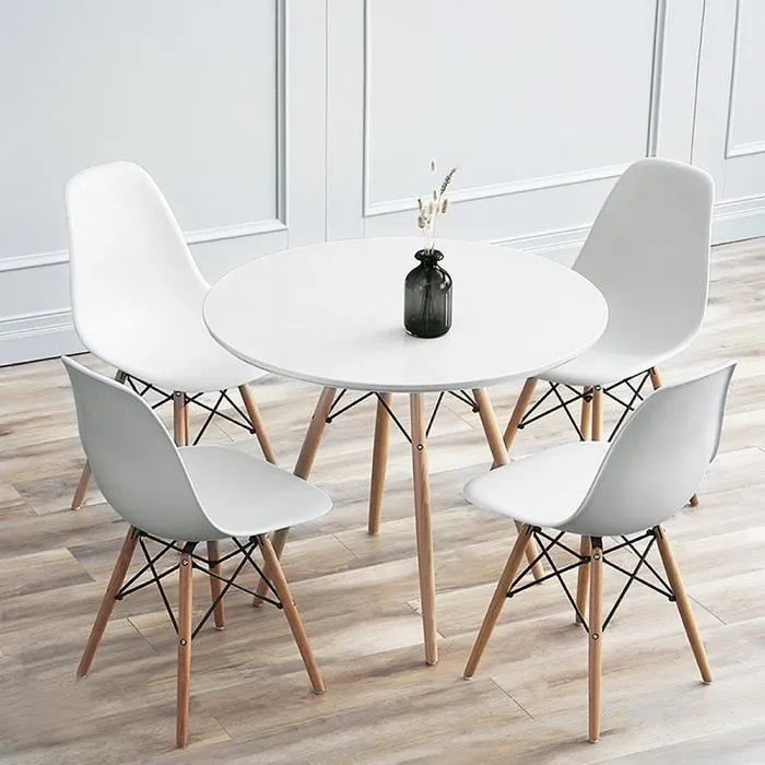 nuo table a manger ronde scandinave