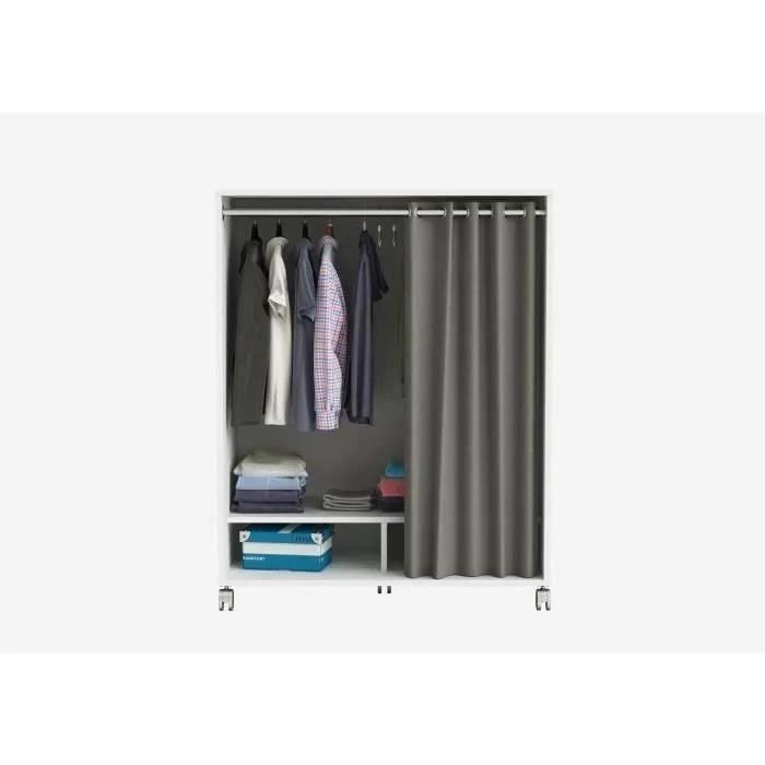 Demeyere Kit Dressing Sous Comble Contemporain Blanc Perle Rideau En Polyester Gris Fonce L 101 Cm Mana Cdiscount Maison