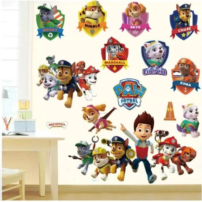 pat patrouille diy autocollant muraux paw patrol snow slide pour enfants chambres decorations pour sticker amination affiche wallpa