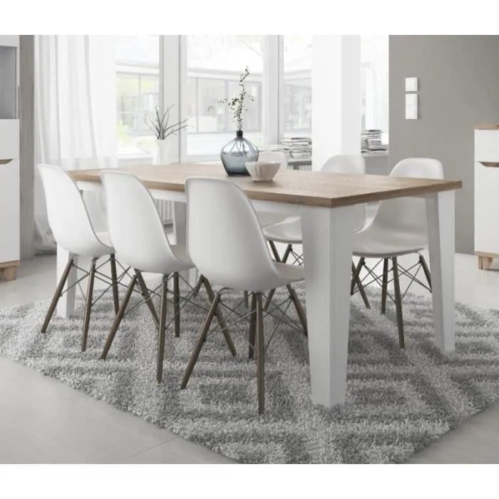 table a manger scandinave lier blanc et bois