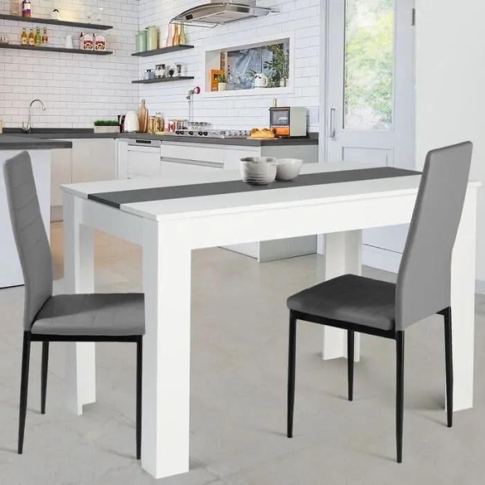 table de cuisine blanc laque
