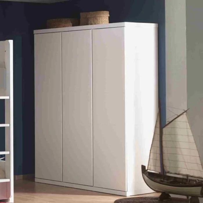 lara armoire 3 portes laquee blanche