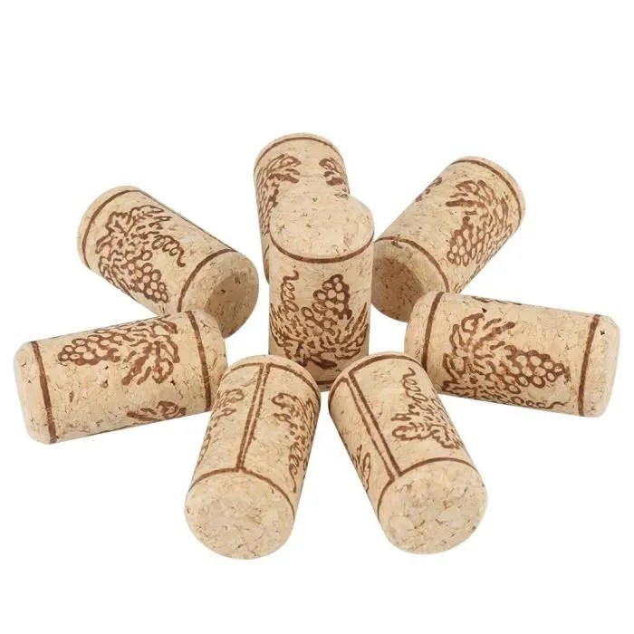 100 bouchons de vin en bois de liege liege naturels 22x44mm cwu