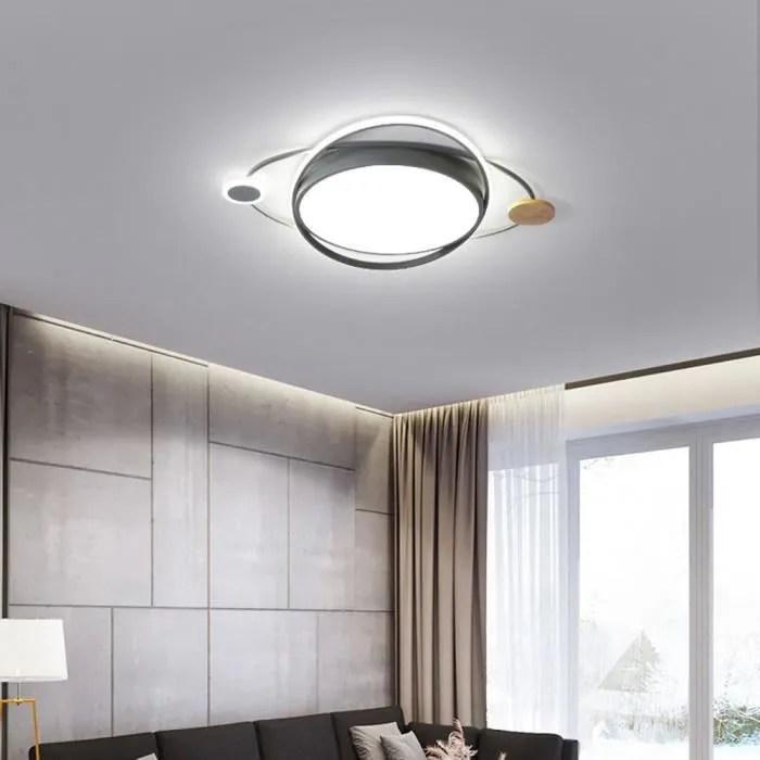 led plafonnier luminaire ronde gris lampe de plafo