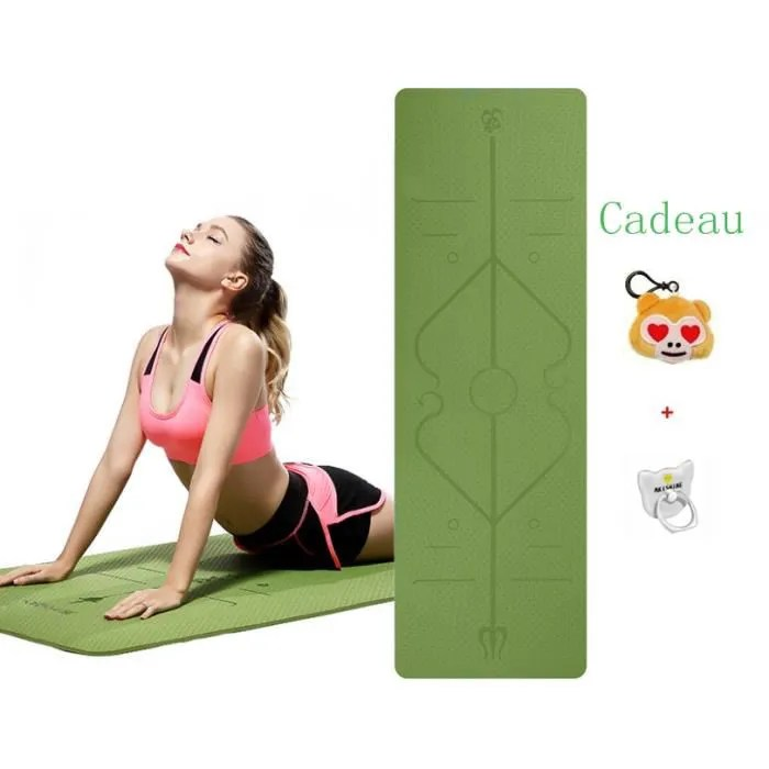 tapis de yoga antiderapant epais tapis avec des
