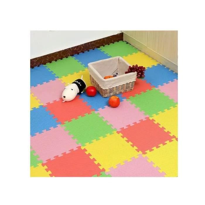 20 dalles en mousse de sol pour enfant en couleur