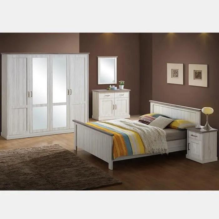 chambre a coucher couleur chene clair et marron elaura gris l 158 x p 209 x h 95 cm