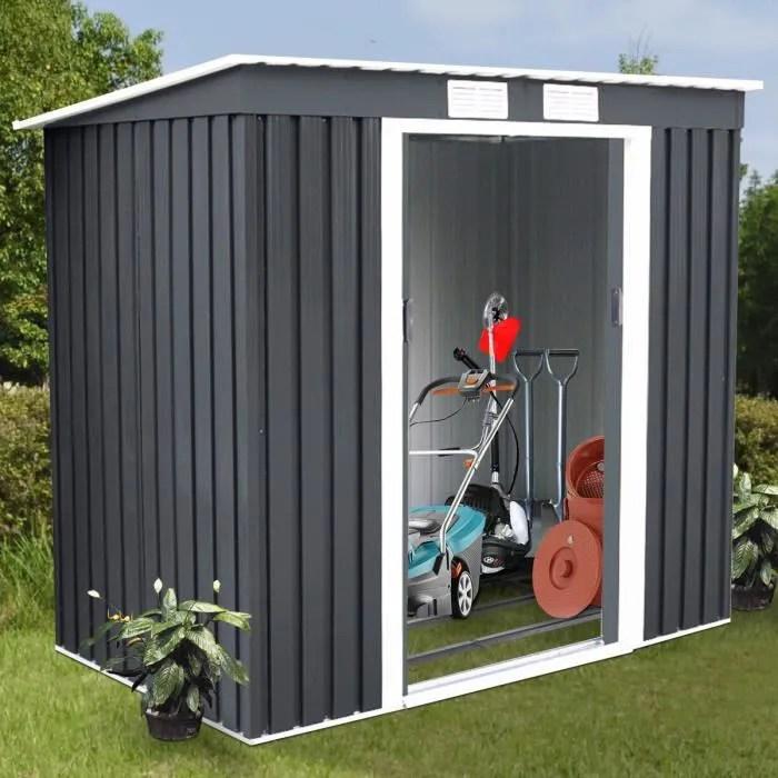 abri de jardin en metal cabane a outils en tole ga