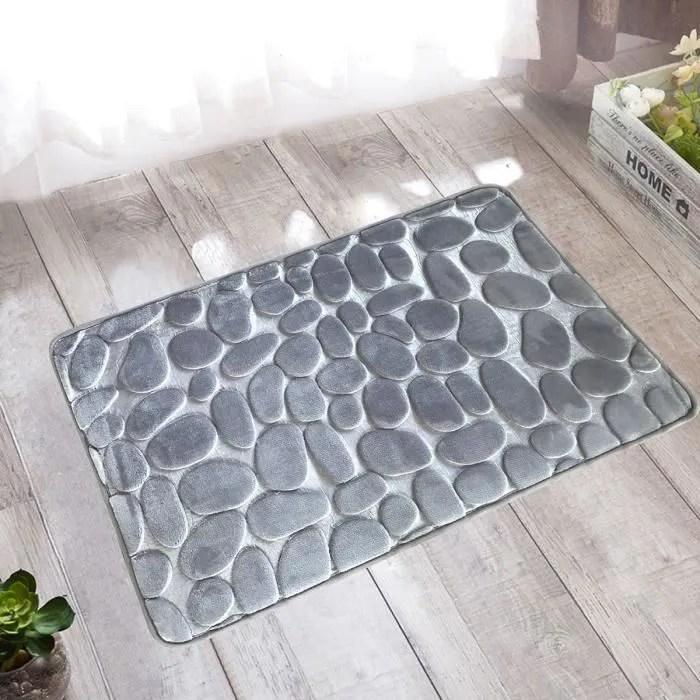 tapis de polyester galet antiderapant tapis de bai