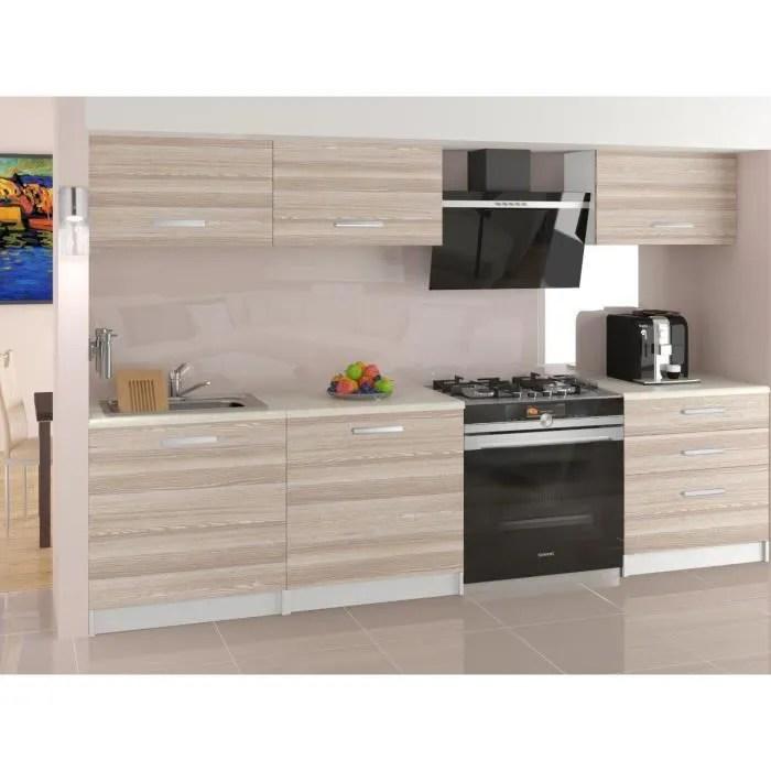 jori cuisine complete modulaire lineaire l 180cm 6 pcs plan de travail inclus meubles cuisine aspect bois wenge