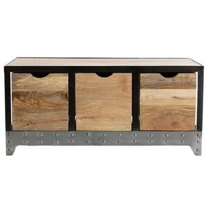 meuble industriel bois metal