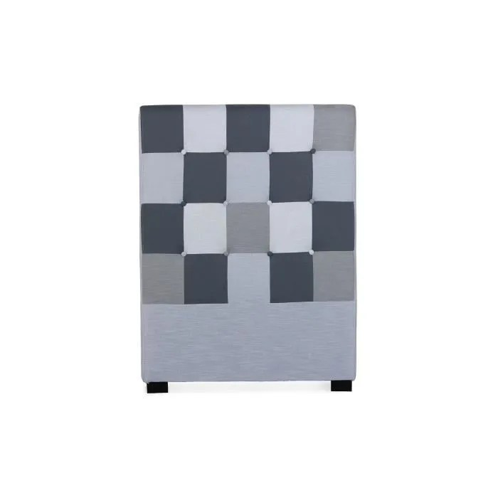 tete de lit luxor 90cm patchwork gris