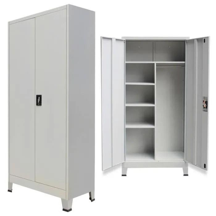 armoire verrouillable meuble de rangement avec 2 p