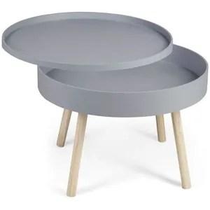 table basse ronde avec rangement