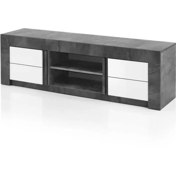 meuble tv blanc hauteur 50 cm