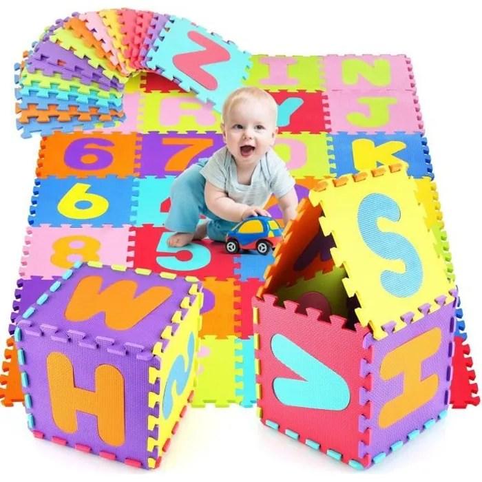 homfa puzzle tapis de jeu enfant en mousse eva da