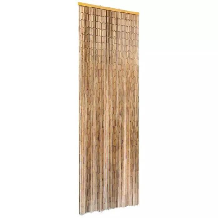 rideau de porte anti insectes bambou style vinta