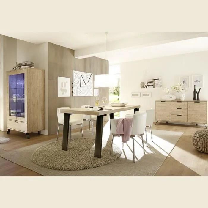 salle a manger complete moderne couleur bois clair jace 190 cm