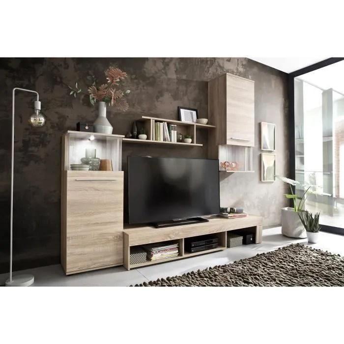 punch meuble tv mural avec led