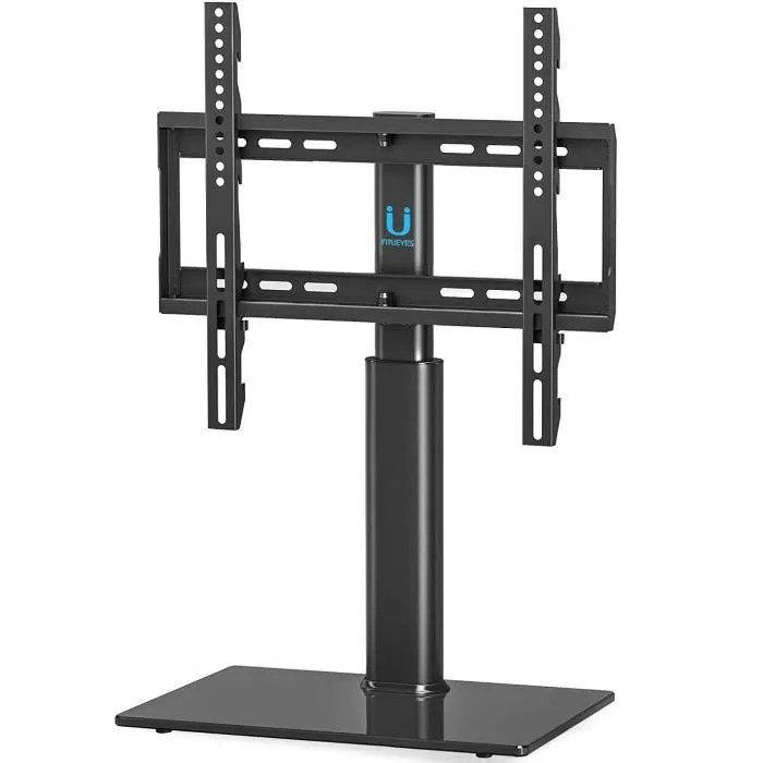 fitueyes meuble tv pivotant design support tv pied