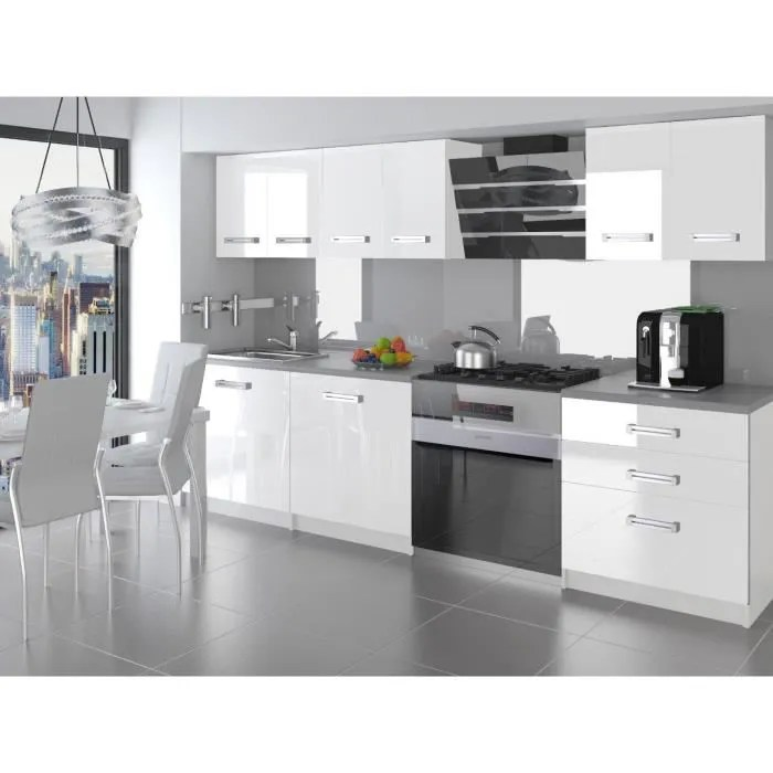 otello cuisine complete modulaire lineaire l 180 cm 6 pcs plan de travail inclus meubles cuisine blanc gris
