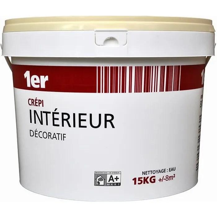 Crepi Interieur Decoratif Ton Pierre 15kg Cdiscount Bricolage