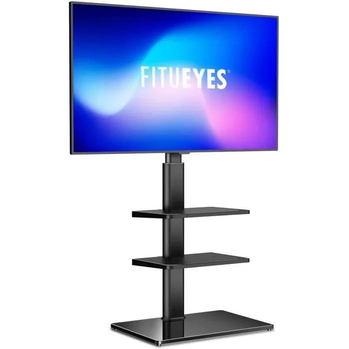 fitueyes meuble tv pied avec 3 etageres