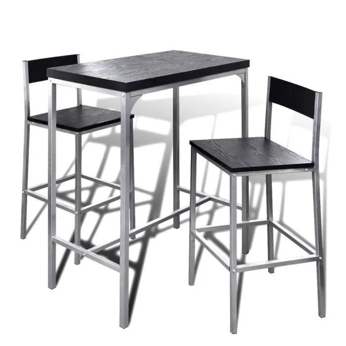 ensembles de table de salle a manger jeu de bar petit dejeuner a comptoir eleve