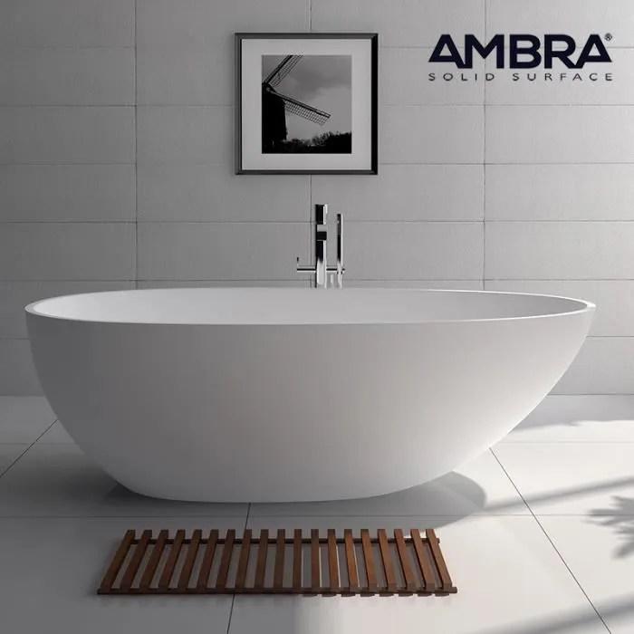 baignoire ilot 185 cm en solid surface sensae