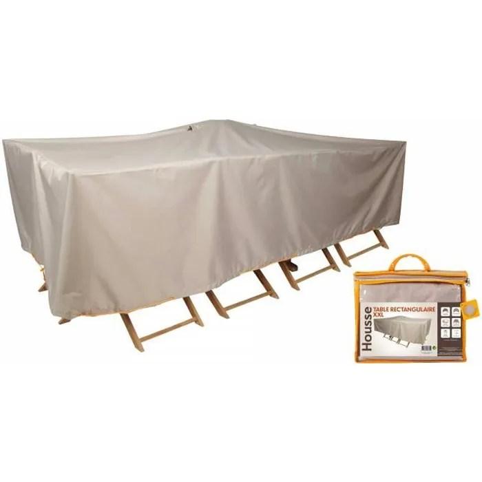housse de protection impermeable de salon de jardin dimensions 310 x 130 cm
