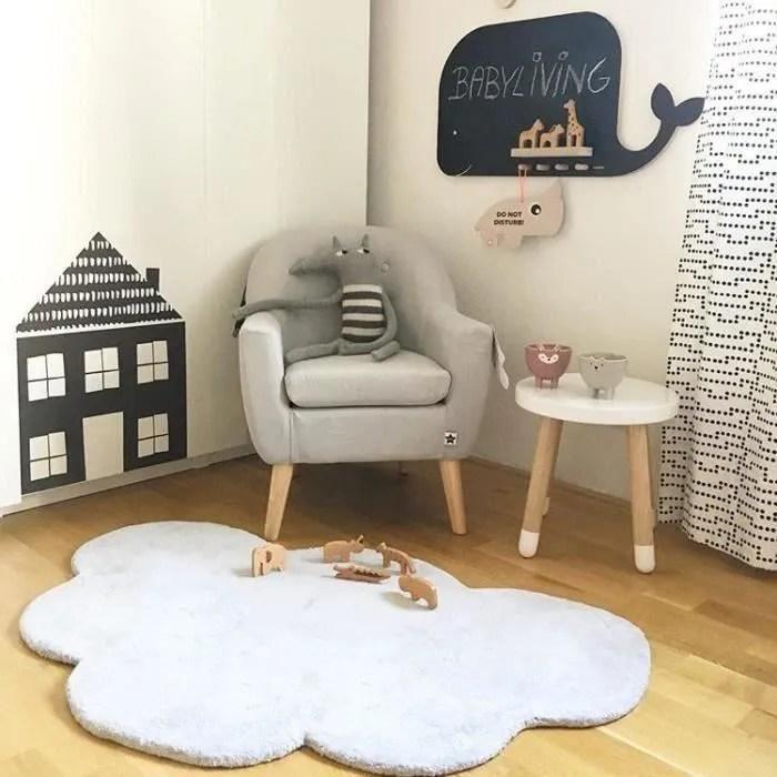 tapis chambre enfant fille tapis de sol en coton b