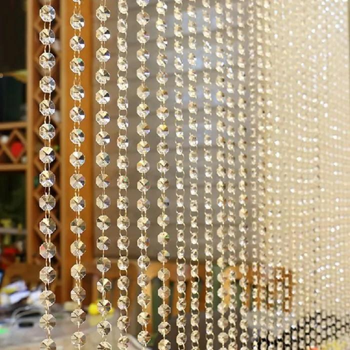 1pc rideau de perles en verre cristal luxe salon c
