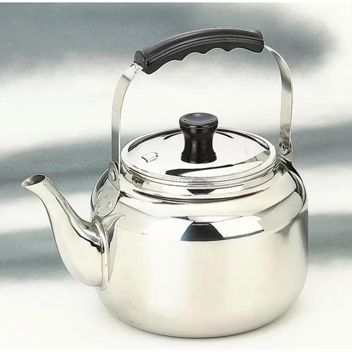 bouilloire inox 3 5 l inox de qualite superieure tous feux dont induction passe au lave vaisselle contenance 3 5 l