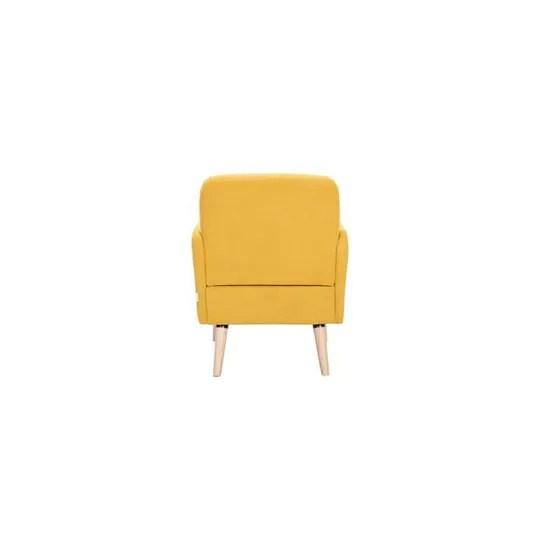 fauteuil scandinave jaune moutarde et