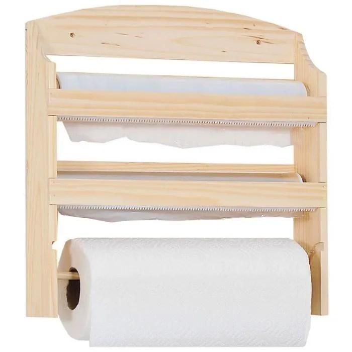 porte rouleaux en bois pour cuisine