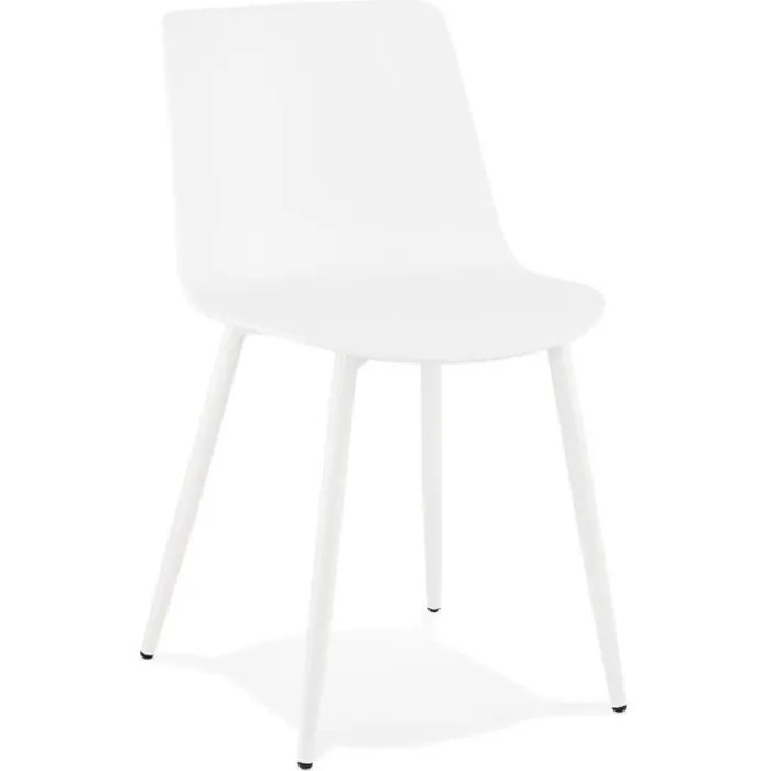 chaise de cuisine moderne brenda blanche