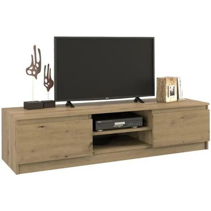 tivoli meuble tv style moderne 140x40x36 salon