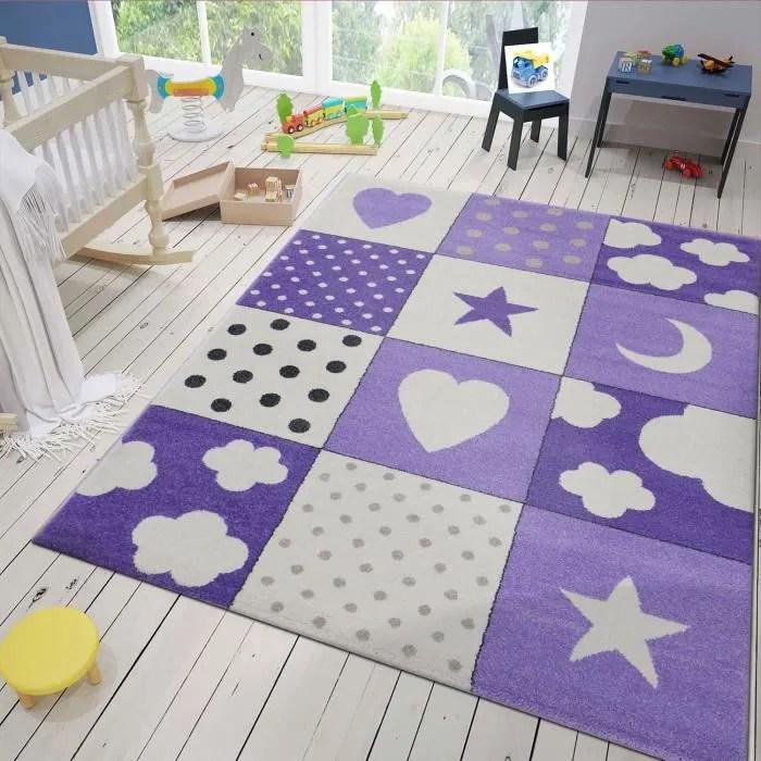 tapis enfant ciel violet 160x230 cm