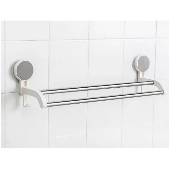 10pcs porte serviette murale sans percage salle de bain acier inox support etagere serviettes barre vetement douche pas cher